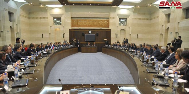 Syrian-Russian joint commission discuss outcomes of technical committees' meetings