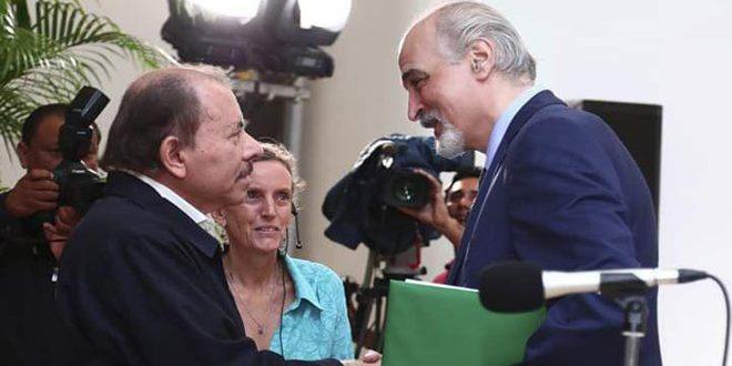 Al-Jaafari presents credentials to President of Nicaragua as non-resident ambassador extraordinary