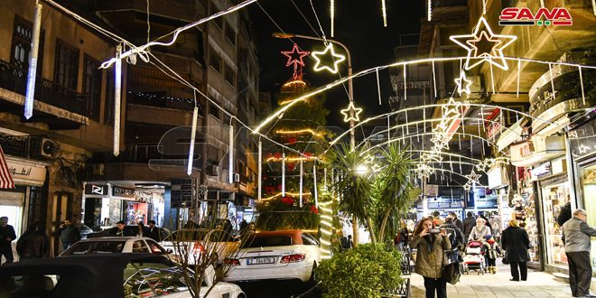 Streets of Damascus ornamented ahead of Christmas and New Year- photos