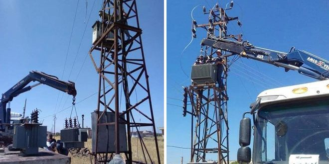 Rehabilitating electrical systems in Jwalak and Snesail villages in Homs