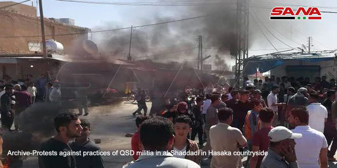 One civilian martyred, another injured by QSD militia bullets, east of Hasaka