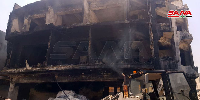 Five persons die in fire that erupted at Sheikh Najjar Industrial City in Aleppo