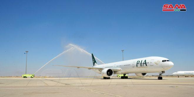 First Pakistani flight arrives in Damascus International Airport