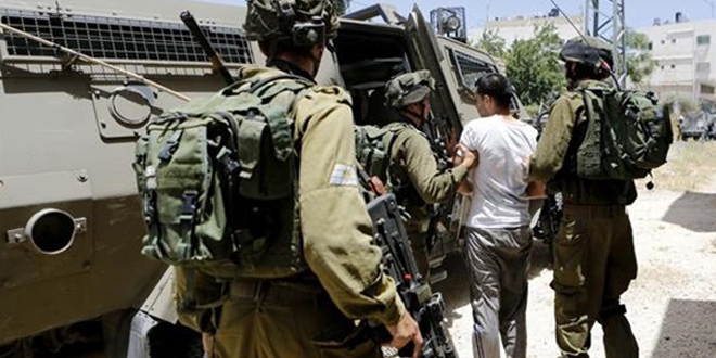 A Palestinian arrested in Bethlehem
