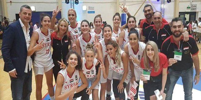 La sélection syrienne de Basketball (Dames) prend le dessus sur son adversaire jordanienne au championnat d'Asie de l'Ouest