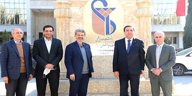 דייוב דן עם נשיא אוניברסיטת איראן בחיזוק היחסים בין שתי המדינות