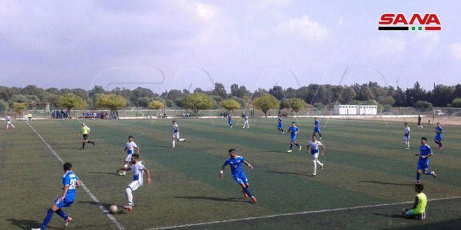 فوز حطين والكرامة على جبلة والنواعير في دوري الشباب بكرة القدم