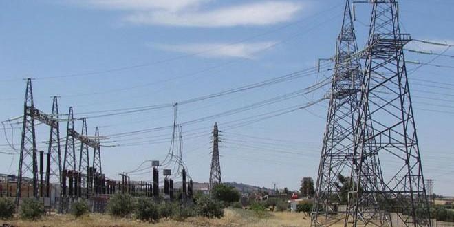 خروج خط توتر كهرباء الطبقة-الأبواب من الخدمة بسبب عطل فني