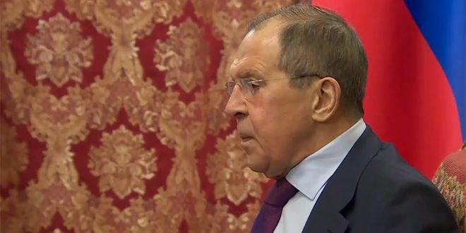 لافروف: يجب القضاء على بؤرة الإرهاب في إدلب