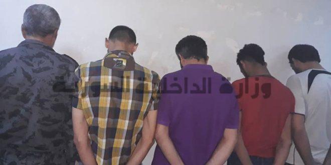 القبض على خمسة من مروجي ومتعاطي المخدرات بدمشق ومصادرة 16 كغ حشيش ونصف كغ هيروئين