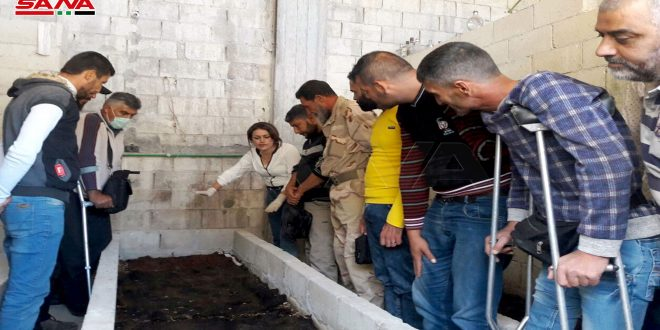 عدد من جرحى الجيش يزورون مشاريع إنتاجية رائدة بحمص